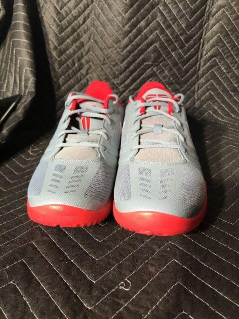 Nike KB Mentality Kobe Bryant Nemesis Gray Red Size 13sneakers shoes 704942 -007 376548de0c80