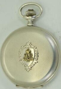 Antique-Imperial-Russian-officers-award-Silver-amp-Gold-Doxa-Grand-Prix-pocket-watch