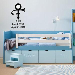 Prince RIP rest in peace vinyl wall sticker bedroom office van car ...