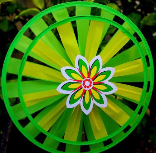 One Round Double Wind Spinner//Great Gift//Yard//Garden//Decoration/_Green
