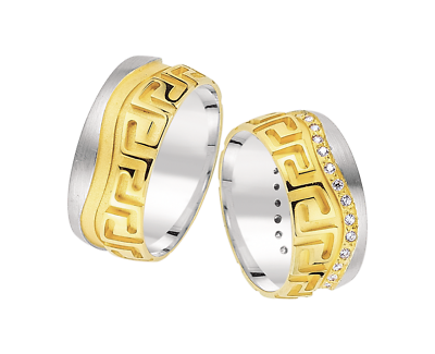 Trauringe Eheringe Verlobungsringe, Gold 585, 14 Karat, 9mm, Inkl. Gravur