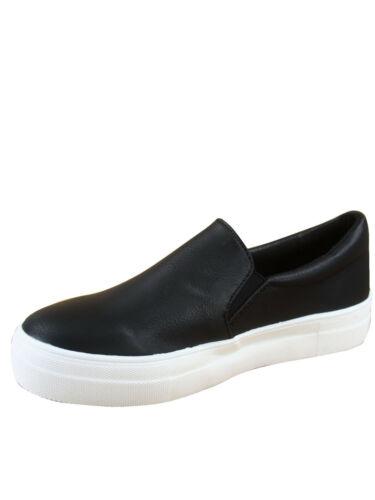 Femmes à Enfiler Double couche Mousse Rembourré Coussin Fashion Sneakers Taille 5.5-11