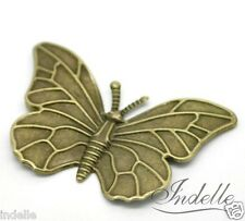 Butterfly Embellishment Bronze Tone Wedding Card Making Craft Ornament -set of 6