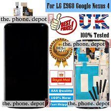 Black For LG E960 Google Nexus 4 LCD Display Digitizer & Touch Screen & Frame
