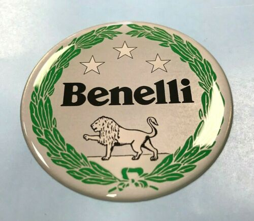 Benelli Motorcycles sticker//decal 69mm HIGH GLOSS DOMED GEL Garland Badge