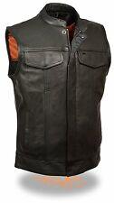 Men's Open Neck Snap/Zip Front Club Vest X Large