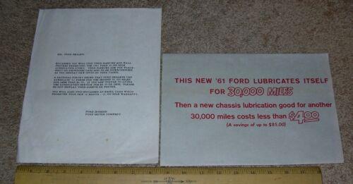 "NOS 1961 Ford Car Truck Dealer Visor Sleeve /""Lubricates Itself for 30,000 Miles/"""
