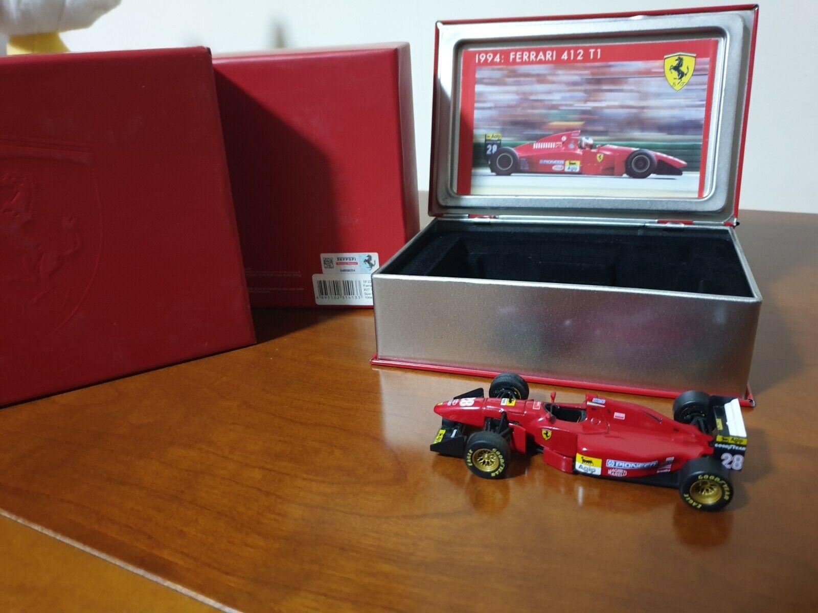 Model Ferrari 1 43 Ferrari F1 412 T1 1994 in metal box De Luxe