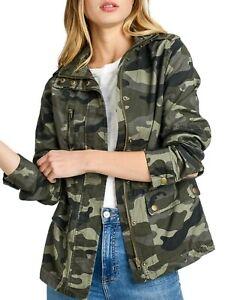 Women/'s Utility Anorak Military Camo Jacket S-3XL