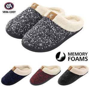d0ebfc8d2 Ladies' Comfort Memory Foam Slippers Wool-Like Plush Fleece Lined ...