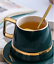 Creative-Drawing-gold-Porcelain-Tea-Cup-and-Saucer-Coffee-Cup-Set-With-Spoon-Lid thumbnail 8