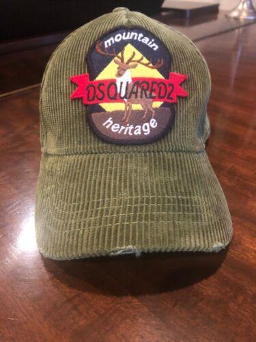 Original Dsquared2 Men's Hat Adjustable Velvet Gre