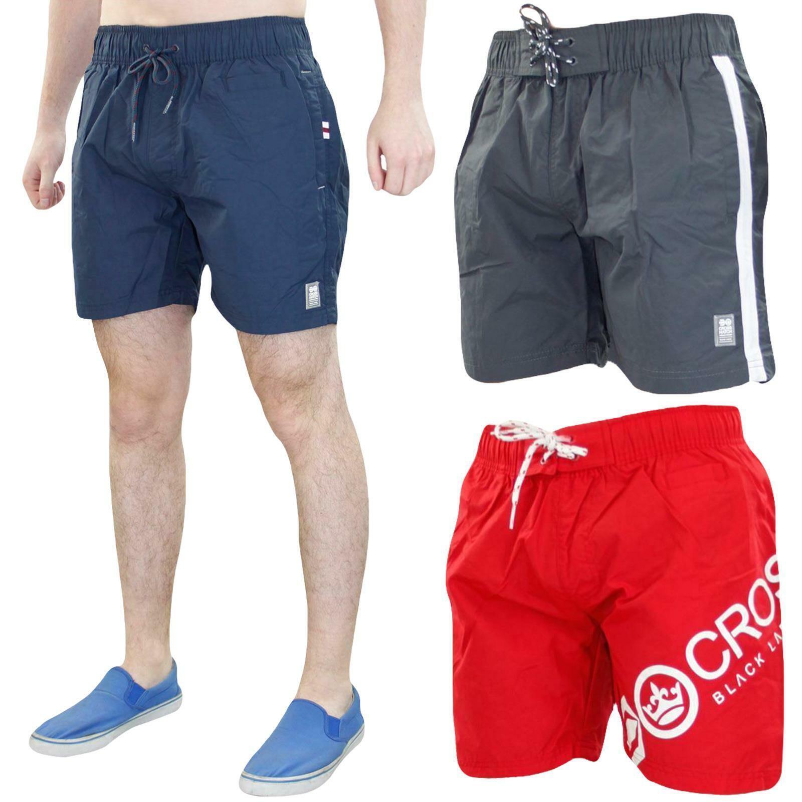 Crosshatch Mens Swim Shorts Mesh Line Summer Beach Swimwear Trunks Sizes S - 2XL