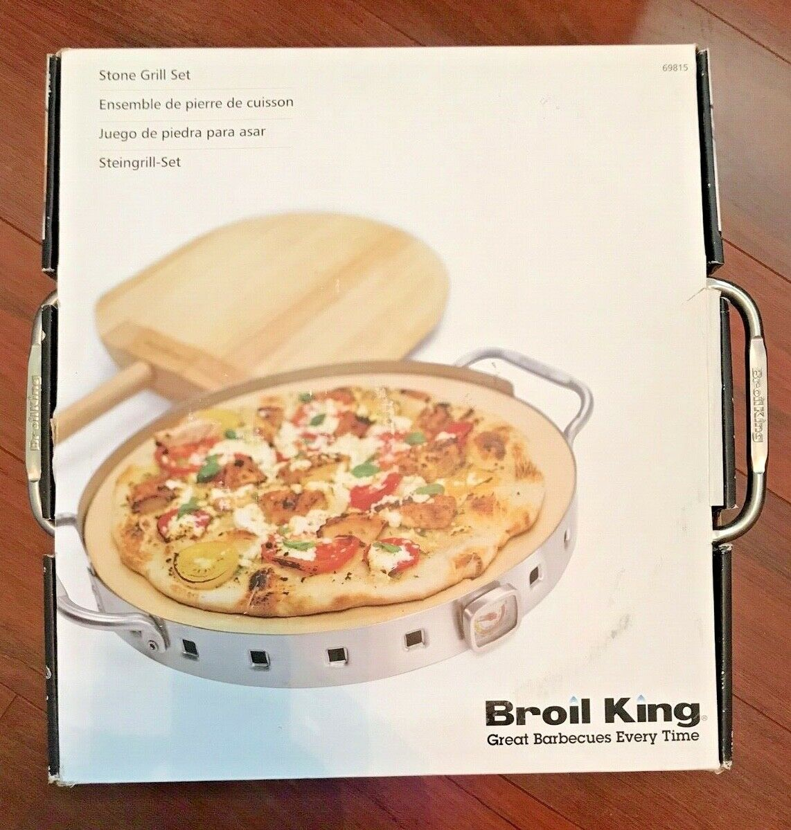 Broil King imperial de calidad de restaurante Parrilla de cásCochea de Pizza de piedra de la Pizza & Set 69815
