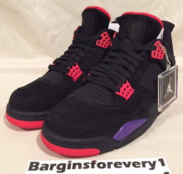 purchase cheap 0cf76 0ad37 Air Jordan 4 Retro NRG (Raptors) - Size 12 - Black Court Purple