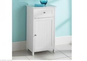 Image Is Loading White Small Cabinet Drawer Shelf Storage Bathroom Unit
