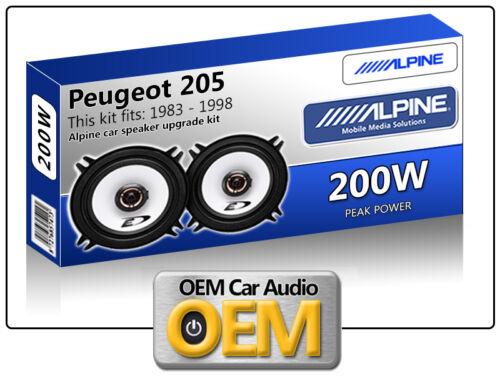 "Peugeot 205 Rear Pillar speakers Alpine 13cm 5.25/"" car speaker kit 200W Max"