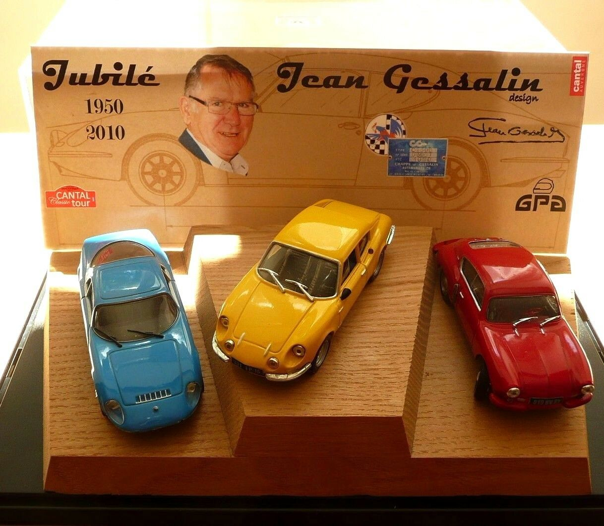MC43 & CG 1.43   PODIUM HOMMAGE j. GESSALIN   CG coupé + A106 + DJET   no Ixo
