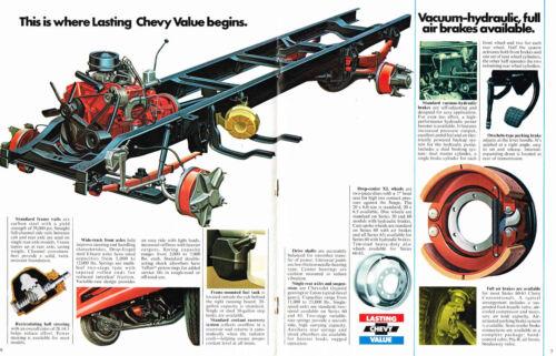 1975 Chevrolet CONVENTIONAL Truck Series 50,60,65 Brochure Catalog