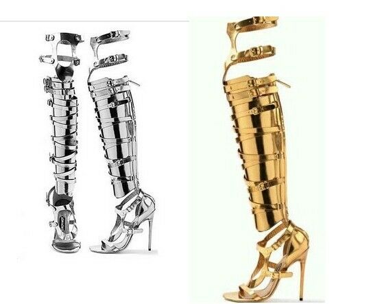 Donna Knee Roman Stilettos Heel Over The Knee Donna High Boot Sandal Shoes Gladiator Sandal 3153f6