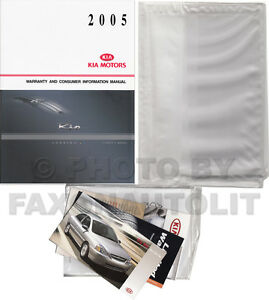 new 2005 kia rio owners manual package owner guide oem owner guide rh ebay com 2006 Kia Rio 2005 kia rio service manual