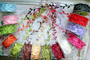 Satin-LEAF-Garland-2-3-amp-5-Metres-25-30mmTotalWidth14-Colour-Choice-CRD9-10