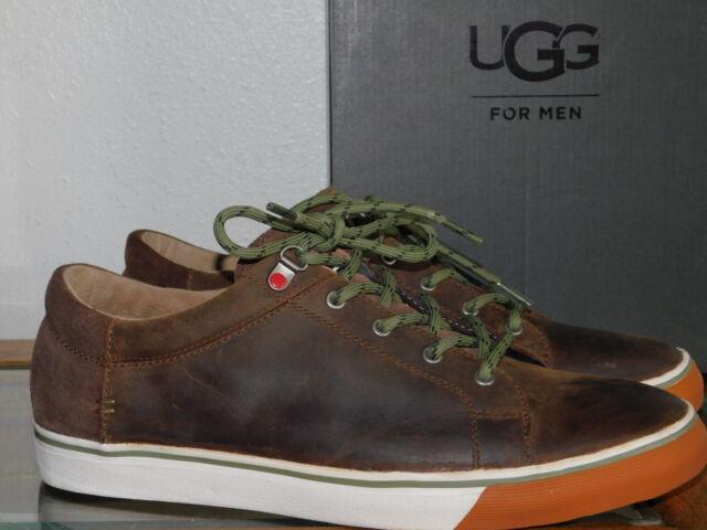 516306bddb3 Mens 12 Grizzly Brown UGG Brock 1017308 Leather Waterproof SNEAKERS Shoes