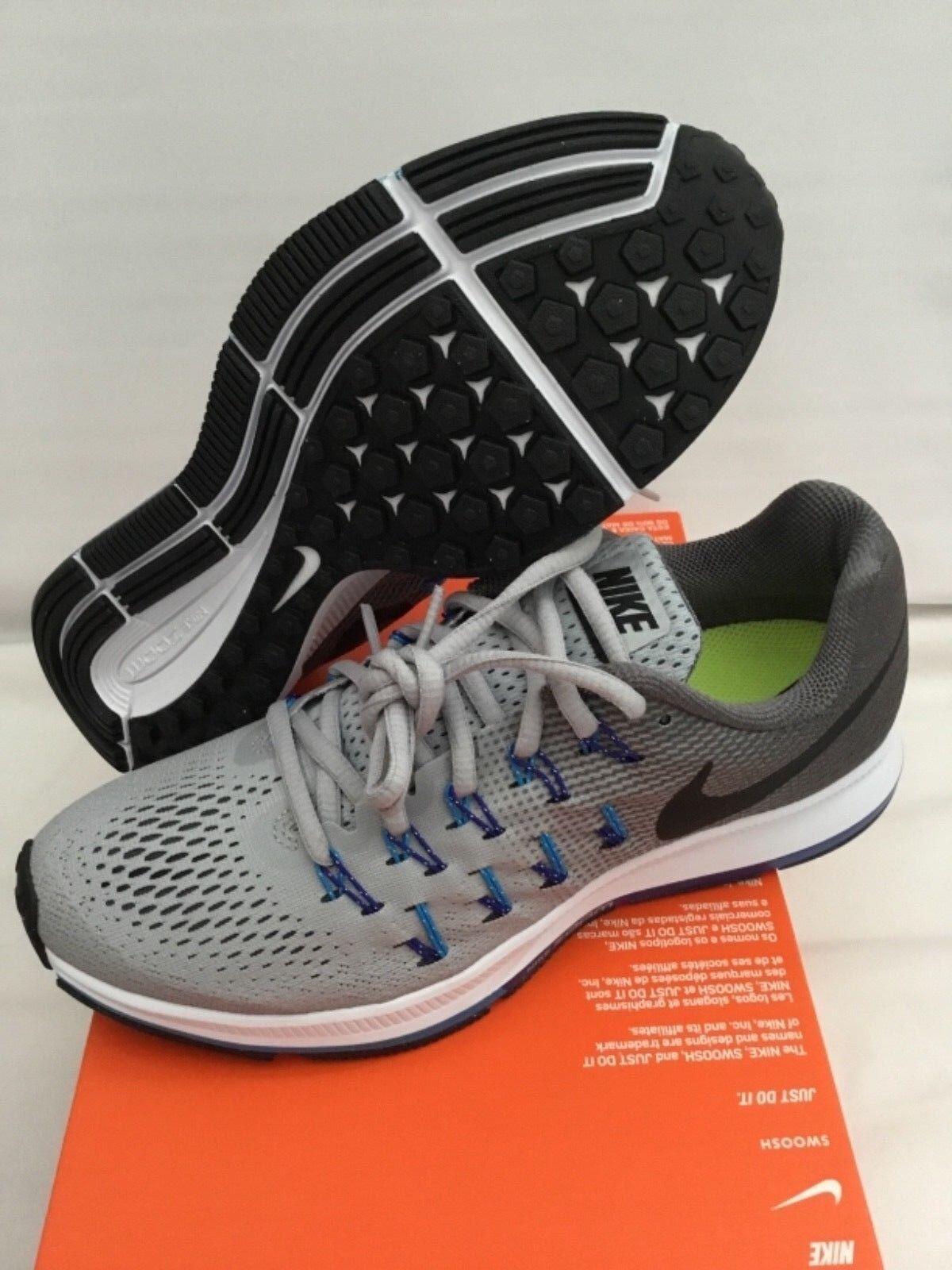 Nike Men's Air Zoom Pegasus 33 Grey Black Running Shoes Size 6.5(NO TOP LID)