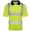 Hi-Vis-Viz-Polo-T-Shirt-Alta-Visibilita-Sicurezza-Nastro-Riflettente-Sicurezza-lavoro-Top miniatura 2