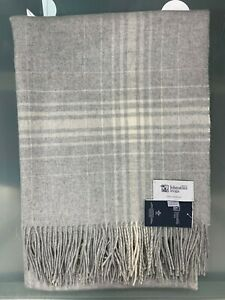 100% Cashmere Throw Blanket | Johnstons of Elgin | Silver | Made in Scotland