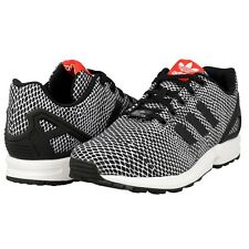 e3d49075970ef adidas ZX Flux Big Kids S82695 Black Mesh Athletic Running Shoes ...