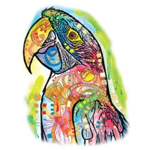 Macaw Bird  Tshirt Sizes//Colors  Scattered Glitter