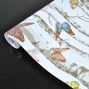 10m-Butterfly-Wallpaper-Self-Adhesive-Shelf-Liner-Vinyl-Wall-Cover-Bedroom-Decor