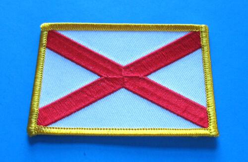 BRAND NEW ALABAMA STATE FLAG BIKER IRON ON PATCH