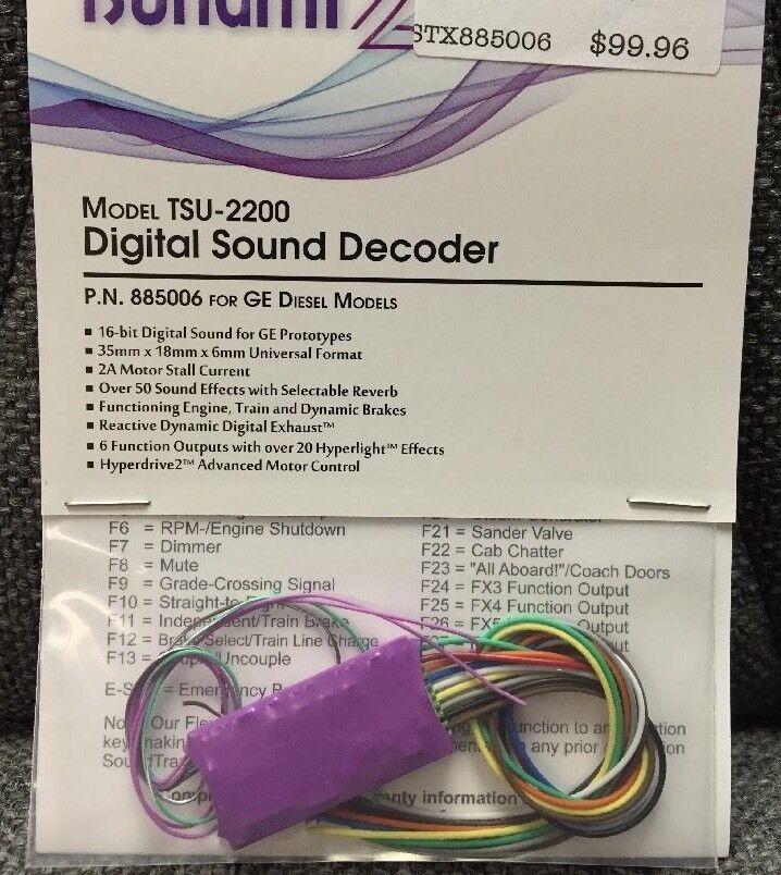 Soundtraxx 885006 Tsunami 2 TSU-2200 GE DIESELS DCC Sound Decoder MODELRRSUPPLY