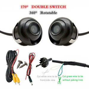 360 Degree Rotatable Sony CCD Parking Backup Car Front//Side//Rear View Camera s!