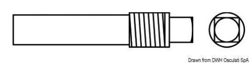 Zink Gewinde 3/8 Mm10x40 Marken Osculati 43.541.00 Bootsport