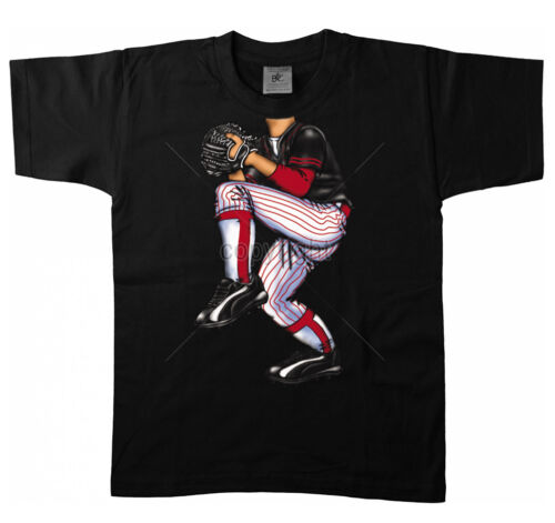 Bambini T-shirt 15812 giocatore di baseball baseball pitcher colpo palla US Stati Uniti CARNEVALE
