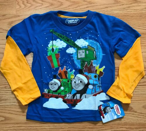 Thomas And Friends Holiday Christmas Long Sleeve T Shirt Boy Size 2T