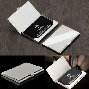 Hot silver pocket business name credit id card holder metal box image is loading hot silver pocket business name credit id card reheart Images