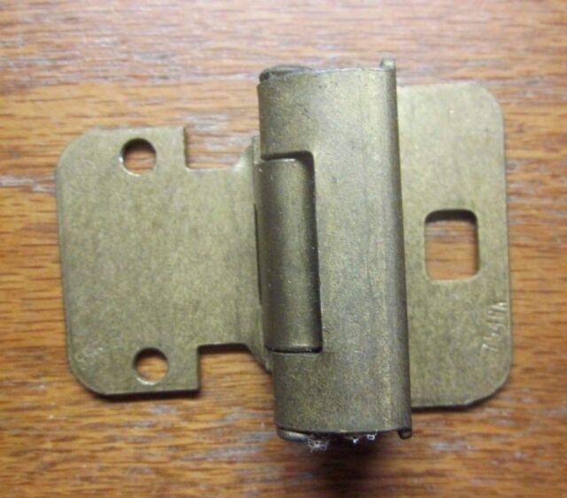 5 Amerock 7553 7548K Cabinet Door Hinge Self Close Wrap Frame Brass 1/4\
