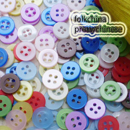 Mixed Colour 11mm Shirt Plastic Buttons Sewing Craft 4SB00