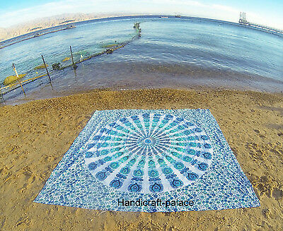 10 PC Twin Indian Wall Hanging Mandala Bedspread Hippie Tapestry Beach Throw