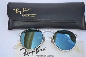 ray ban lennon  vtg B\u0026amp;L Ray Ban Blues Mirror Lens round John Lennon style ...