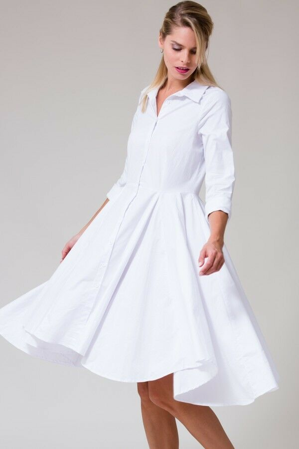 damen Long sleeve shirt dress