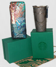 STARBUCKS - 2016 ANNIVERSARY - Mermaid Scales TRAVEL TUMBLER & Whole Bean COFFEE