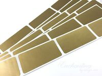 50 - Scratch Off Labels 1 X 2 Gold Rectangle Stickers