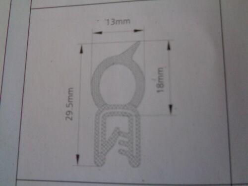 Coche Van Caravana Camper Hatch sello de goma arranque @ 29mm de alto x 13mm de ancho borde del ajuste