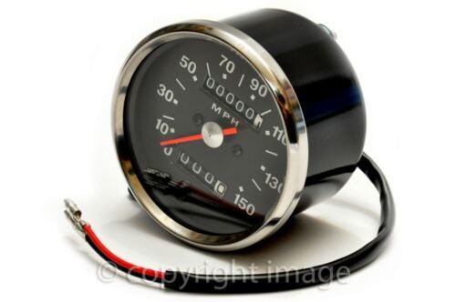 Speedometer, BSA Triumph, 1970-78, 1.25:1 ratio, Black, MPH 60-2394