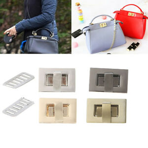 Details about DIY Metal Rectangle Shape Clasp Turn Lock Twist Lock Handbag  Bag Purse Hardware 4babb2d193d6b